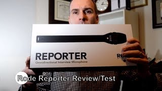 Rode Reporter Microphone review and test