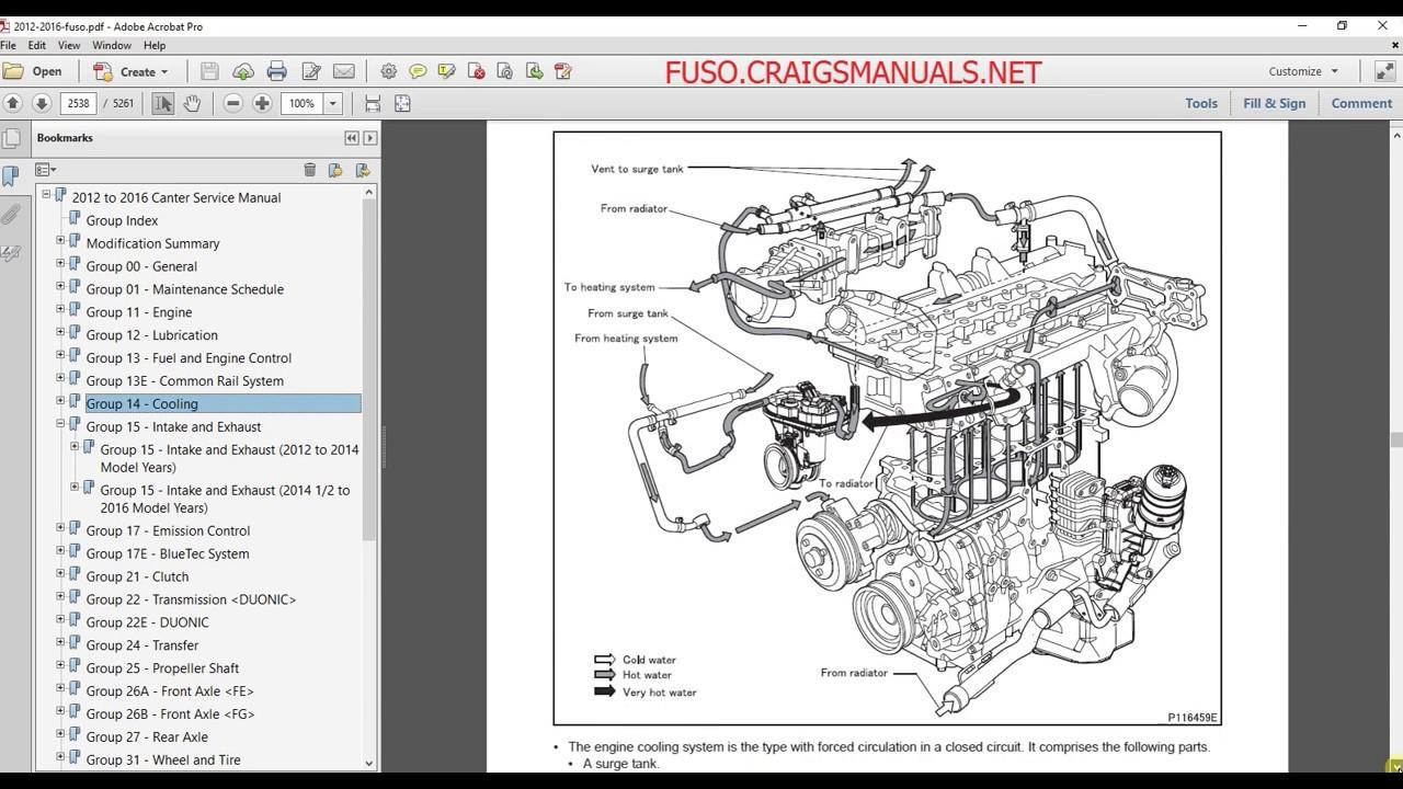 mitsubishi fuso service manual 2012 2013 2014 2015 2016 [ 1280 x 720 Pixel ]