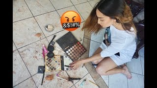 DESTROYING MY GIRLFRIEND'S MAKEUP!!! (PRANK WARS)