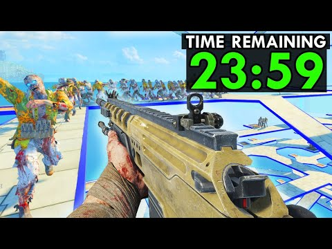 The HARDEST Challenge in Zombies History... (NEW FASTEST WORLD RECORD TIME SET)
