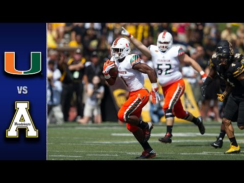 Miami vs. Appalachian State Football Highlights (2016)