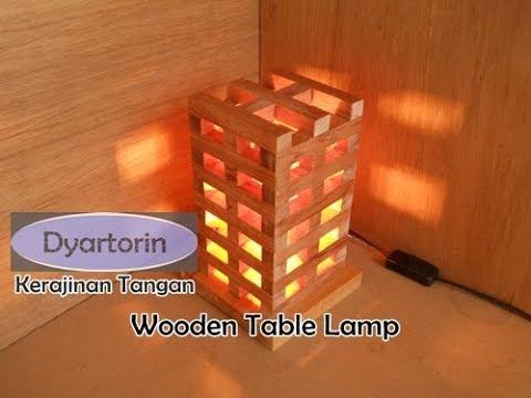 kreasi lampu hias unik dari kayu untuk dekorasi ruangan