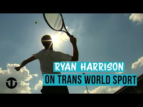 Tennis star Ryan Harrison aged 16 on Trans World Sport