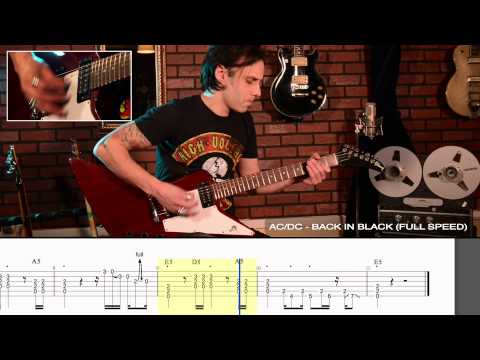 "How to play ""Back in Black"" by AC/DC - Legendary Riff #4"