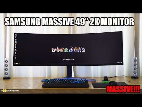 Samsung Monitors 49-inch 2k HDR Gaming  Monitor: WOW!!! להורדה