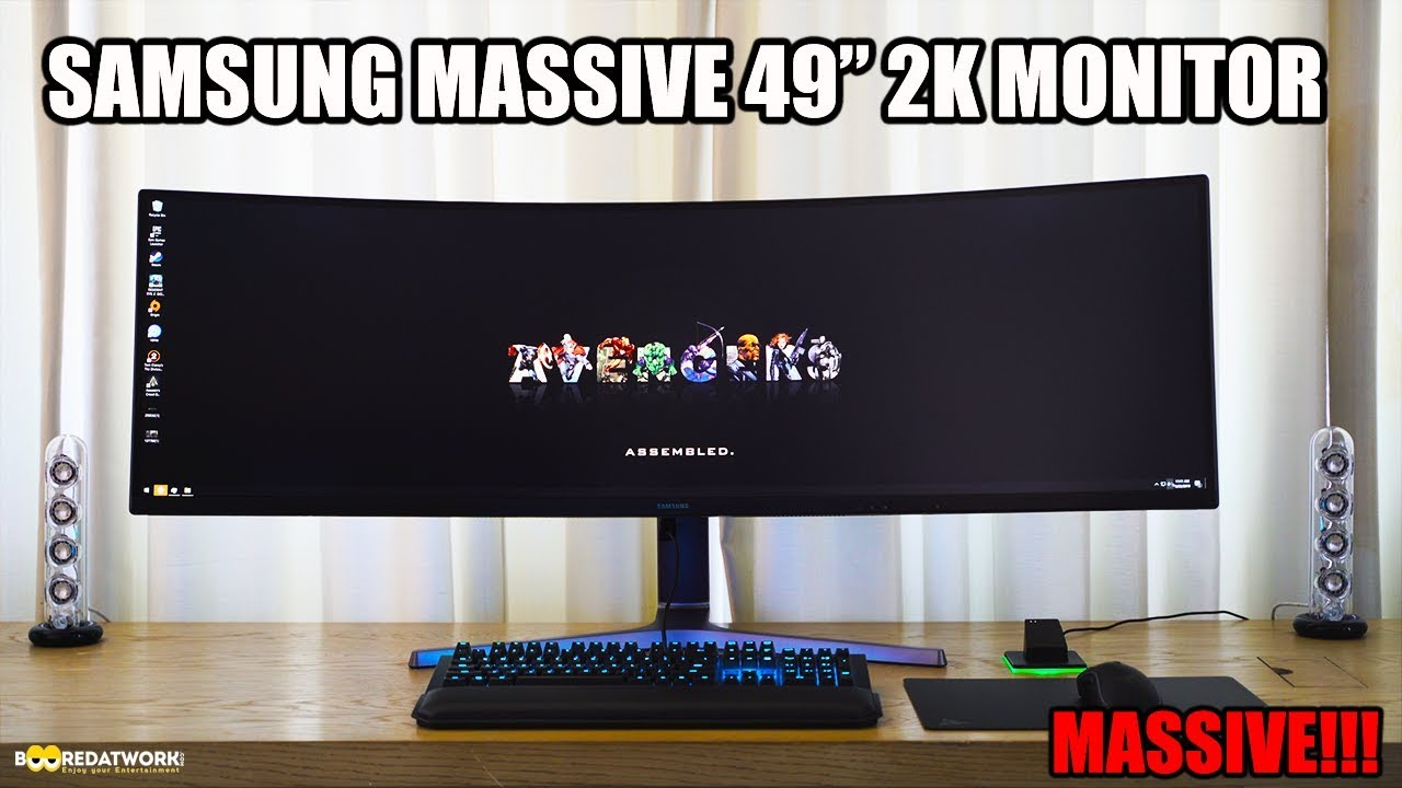Samsung Monitors 49-inch Super Ultra Wide 2k HDR Gaming Monitor: WOW!!!
