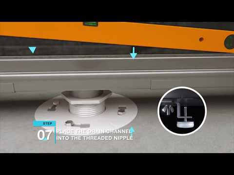 how-to-install-the-qmdrain-adjustable-stainless-steel-linear-drain-|-step-by-step-guide