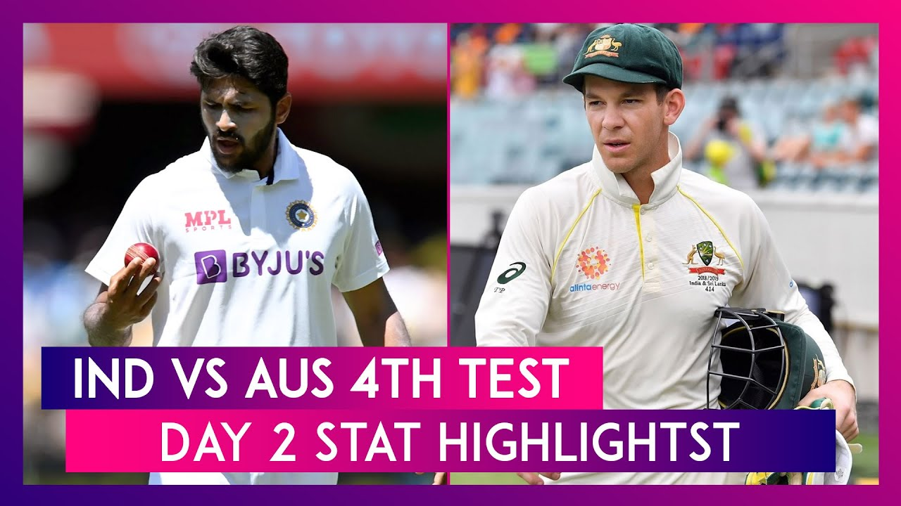 IND vs AUS 4th Test 2021 Day 2 Stat Highlights: Young Indian Bowlers Shine on Rain-Hit Day