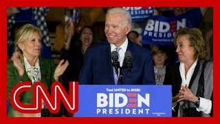 Biden addresses supporters: This campaign will send Trump packing