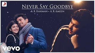 Never Say Goodbye - Official Video | Sushant-Sanjana | A.R. Rahman | A.R. Ameen