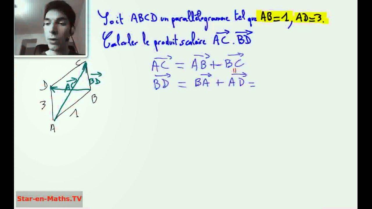 1ère S Produit scalaire de deux vecteurs, parallélogramme ...