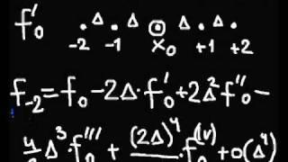 1-6. Многоточечные аппроксимации производных