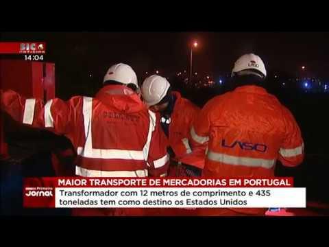 Transporte de Transformador Efacec - SIC Notícias