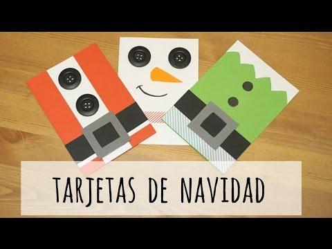 Tarjetas de navidad 4 ideas f ciles v deo express - Ideas postales navidad ...