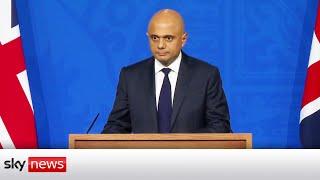 BREAKING: Health Secretary Sajid Javid announces 'Plan B' of COVID measures will not be brought in