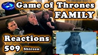 Game of Thrones FAMILY Reactions 509 | Shireen