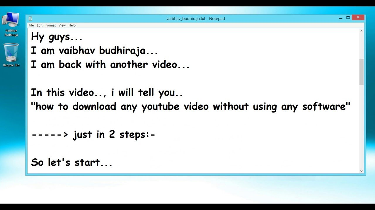 How to download videos directly from youtube without using any how to download videos directly from youtube without using any software free movies ccuart Choice Image
