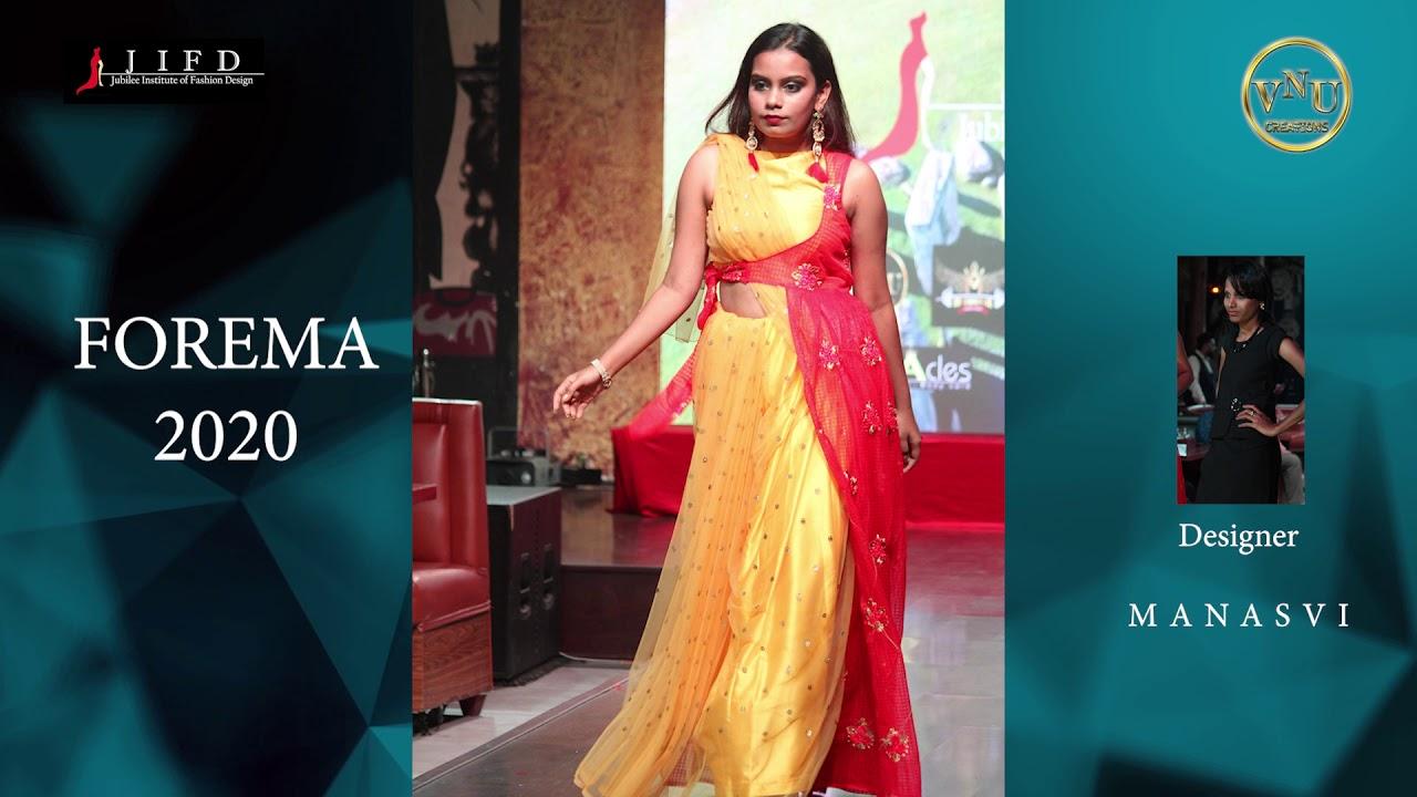 Fashion Deisgner Manasvi Collection At Jubilee Fashion Show Forema 2020 Youtube