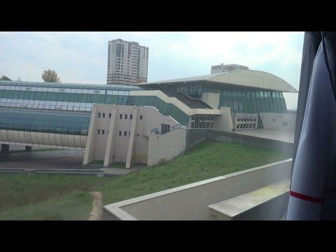 Казань из окна скорого поезда