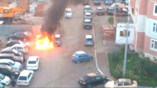 Перехват 17.09.2015 пожар на ул.Глушко - сгорело 2 авто
