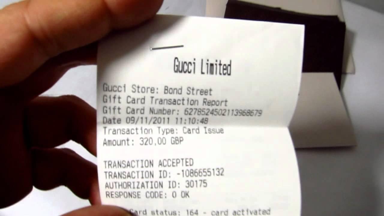 ef95364284 GUCCI GIFT CARD - YouTube