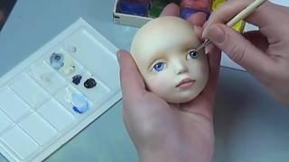 Роспись глаз авторской куклы(Если это видео показалось Вам полезным и интересным, поделитесь с друзьями! Видеоканал Школа авторской..., 2015-10-28T12:18:25.000Z)