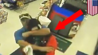 Firefighter takes down armed robber at Exxon gas station in Midlothian, Texas - TomoNews