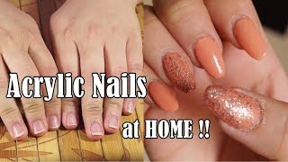 How to Apply Acrylic Nails at HOME |