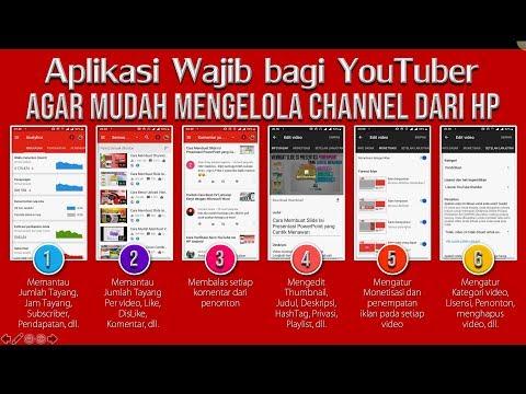 Cara Mengelola Channel YouTube dari HP