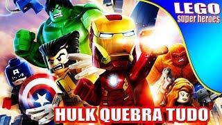 Lego Super Heroes -Hulk -Homen de ferro- Homen aranha quebra tudo