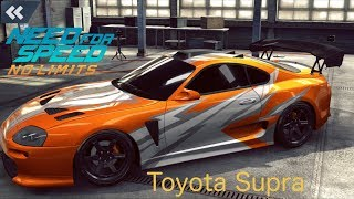 [Toyota Supra Car Wrapping] Need for Speed - No Limits iOS Gameplay [1080p / FullHD]