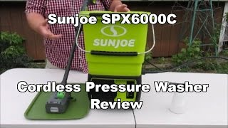 SunJoe SPX6000C Light-Duty Cordless Pressure Washer Review NEW 2017