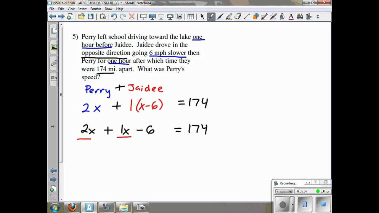 Distance Rate Time Word Problems Kuta Software Infinite Algebra 2 ...