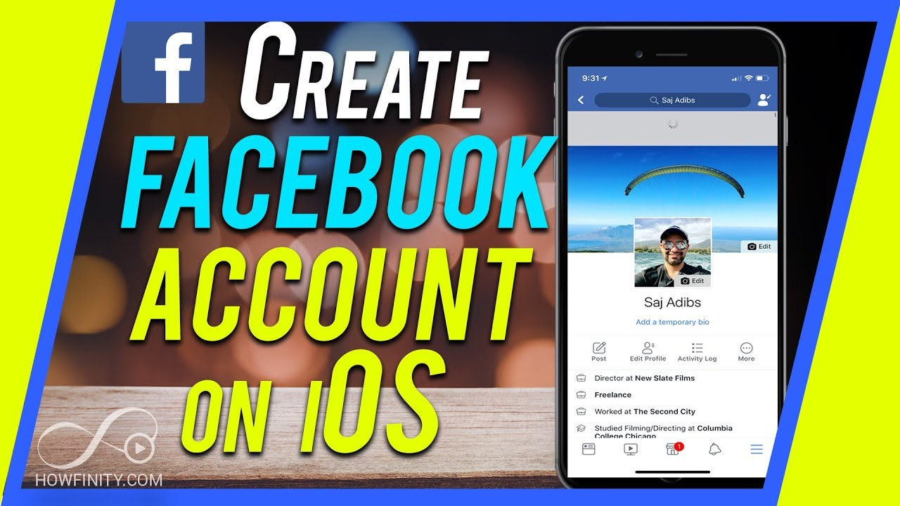 How to Create a Personal Facebook Account with iPhone or iPad