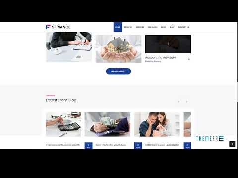 SFinance - Business Consulting and Professional Services HTML Templat