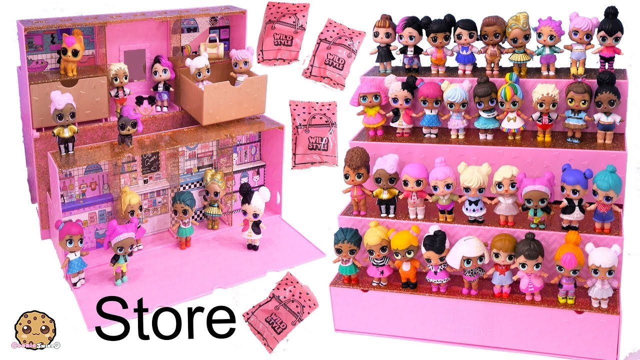 Lol Surprise Store Shop Display Case With Exclusive Blind Bags