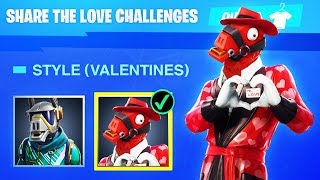 The NEW Fortnite VALENTINES SKINS! (Fortnite Share The Love Challenges)