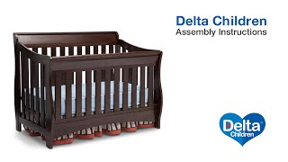 Delta Children Bentley S & Oberon 4-in-1 Crib Assembly Video