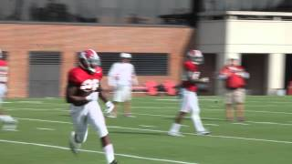 alabama defensive backs tackling drills southern miss week 9 9 14