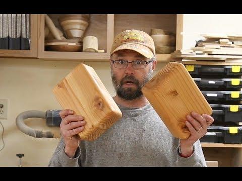 Making wood yoga blocks