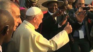 Pope begins 2 day visit to Uganda