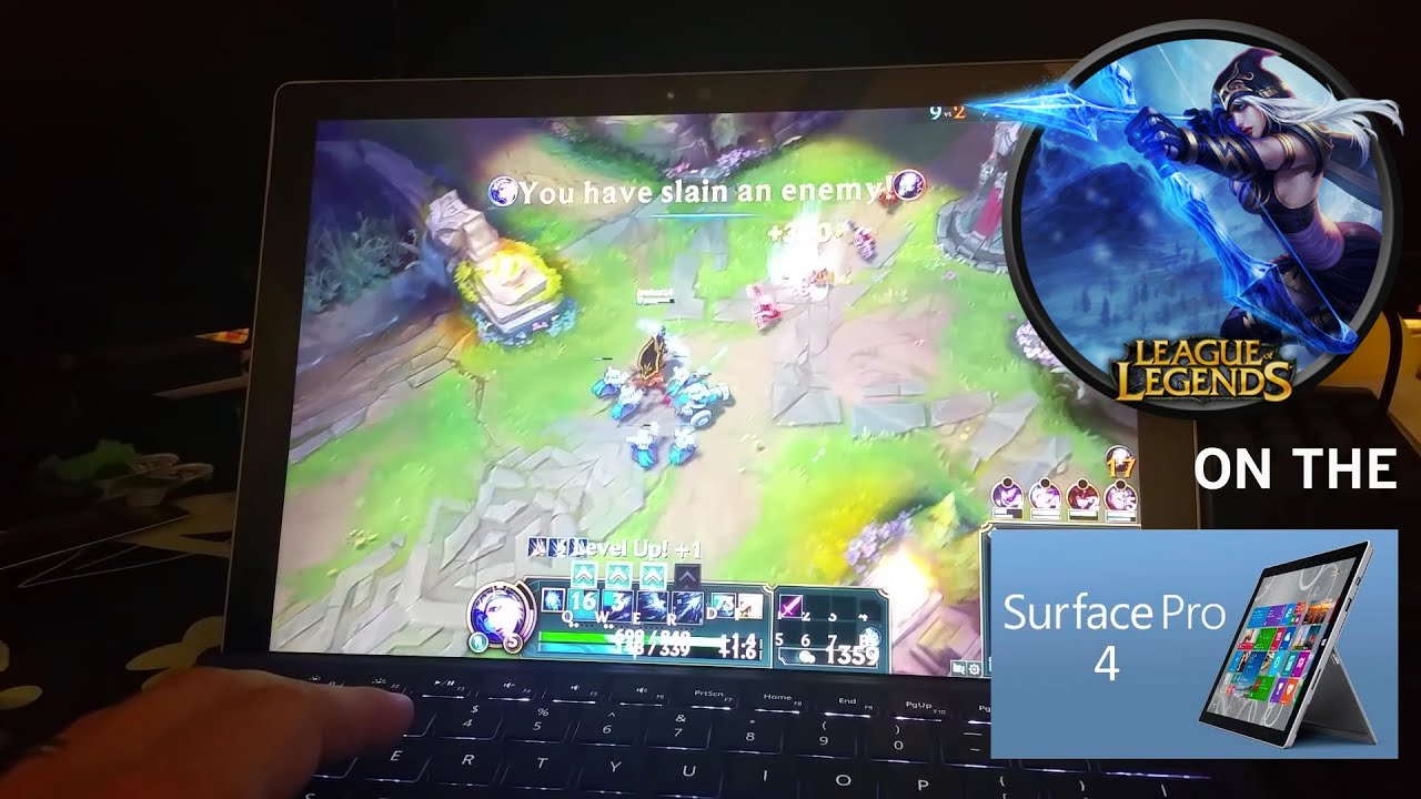 league of legends lol on surface pro 4 i5 8gb ram youtube