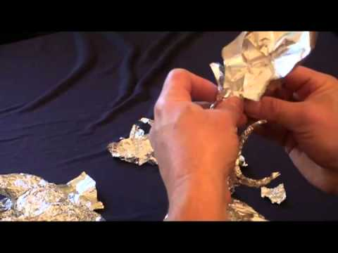 anleitung tutorial alufolie modellieren tricks 2 3 youtube. Black Bedroom Furniture Sets. Home Design Ideas