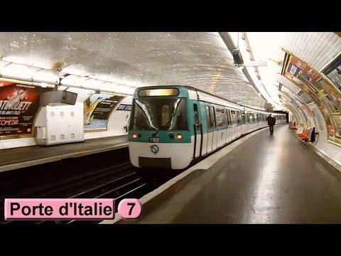 M tro de paris porte d 39 italie ligne 7 - Metro porte d ivry ...
