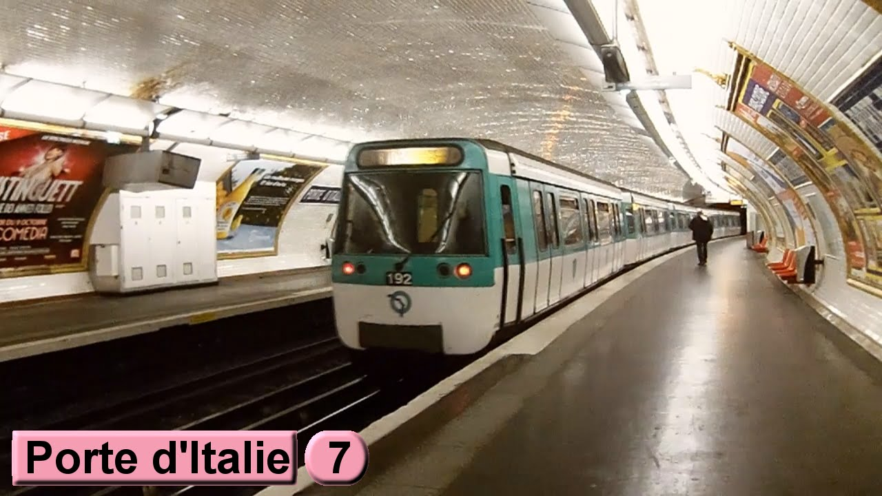 m tro de paris porte d 39 italie ligne 7 ratp mf77 youtube. Black Bedroom Furniture Sets. Home Design Ideas