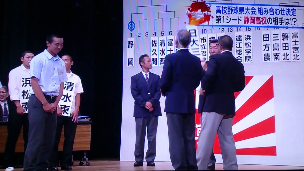 高校野球 静岡大会 22日組み合わせ抽選会