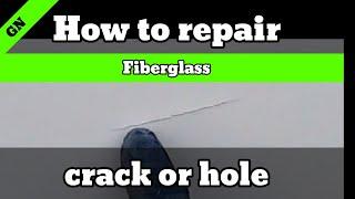 How to repair a crack or hole in fiberglass. #rv repair #how to diy