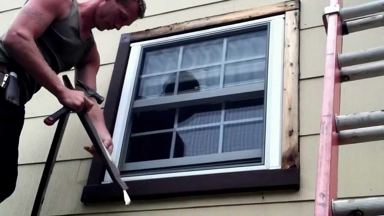 HOW TO REMOVE WINDOW TRIM - YouTube
