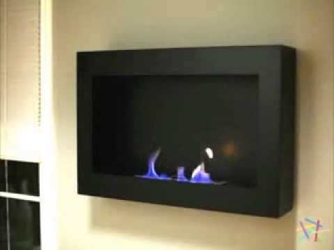 Anywhere Fireplace Soho Black Satin Anywhere Indoor Fireplace ...