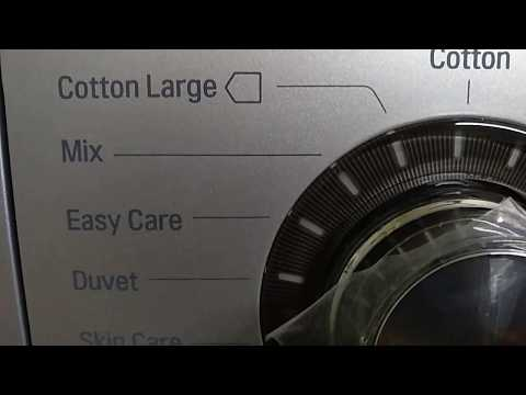 L G washing machine program